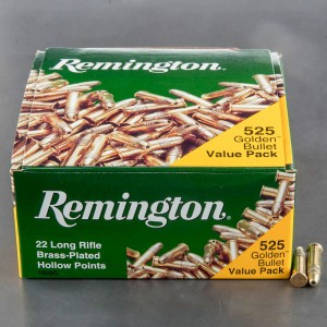525rds - 22LR Remington 36gr. Golden Bullet Hollow Point Ammo