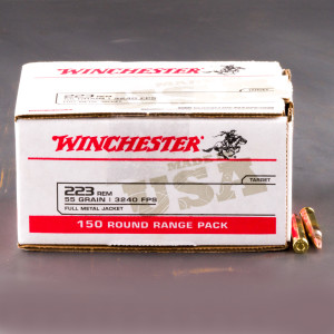 150rds – 223 Rem Winchester USA 55gr. FMJ Ammo