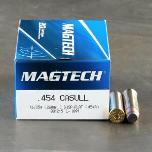 20rds - 454 Casull Magtech 260gr. SJSP Ammo