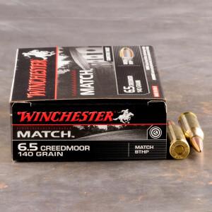 20rds - 6.5 Creedmoor Winchester Match 140gr. BTHP Ammo