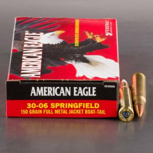 20rds - 30-06 Federal American Eagle 150gr. FMJ Ammo