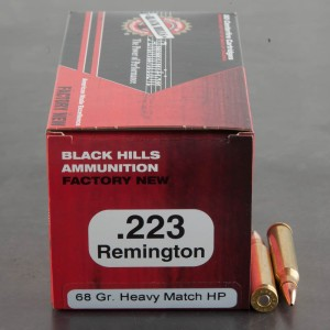50rds - 223 Black Hills 68gr. Heavy Match Hollow Point Ammo