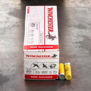 "100rds - 20 Gauge Winchester USA Game & Target 2-3/4"" 7/8 Oz. #7.5 Shot Ammo"
