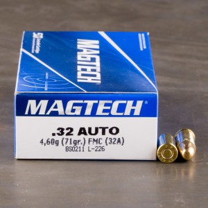 50rds - 32 Auto Magtech 71gr. FMJ Ammo