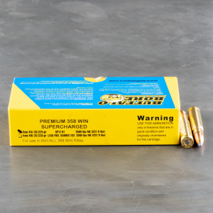 20rds - .358 Win. Premium Supercharged Buffalo Bore 225gr. Soft Point BT Ammo