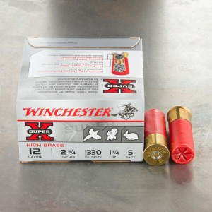"25rds – 12 Gauge Winchester Upland & Small Game 2-3/4"" 1-1/4 oz. #5 Shot Ammo"