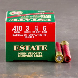250rds 410 Gauge Estate Hv Hunting 3 Max Dram 11 16oz