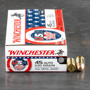 500rds – 45 ACP Winchester USA Target Pack 230gr. FMJ Ammo