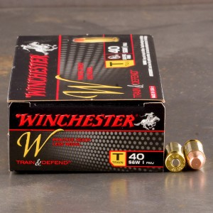 500rds - 40 S&W Winchester W Train and Defend 180gr. FMJ Ammo