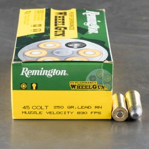 500rds - 45 Long Colt Remington Performance Wheel Gun 250gr. LRN Ammo