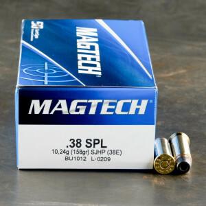 50rds - 38 Special Magtech 158gr. SJHP Ammo
