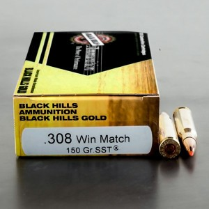 20rds - 308 Win Black Hills Gold 150gr. SST Polymer Tip Match Ammo