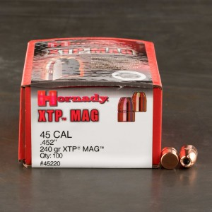 100 Pieces - 45 Colt Bullets Hornady 240gr. XTP Projectiles
