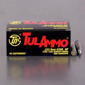 40rds – 223 Tula 62gr. Hollow Point Ammo