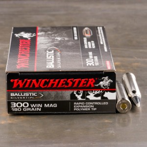 20rds - 300 Win. Mag. Winchester 180gr. Supreme Ballistic Silvertip Ammo