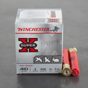 "25rds – 410 Bore Winchester Super X 3"" 3/4oz. #7.5 Shot Ammo"