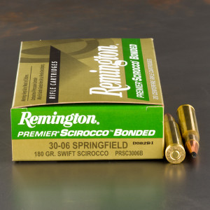20rds - 30-06 Remington Premier 180gr. Swift Scirocco Bonded Ammo