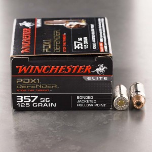 20rds - 357 SIG Winchester Elite 125gr. PDX1 Bonded JHP Ammo