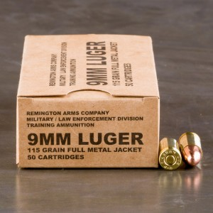 500rds - 9mm Remington LE / MIL Contract Overrun 115gr. FMJ Ammo
