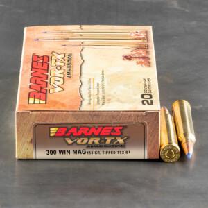 20rds - 300 Win. Mag Barnes VOR-TX Polymer Tip 150gr. TTSX BT Ammo