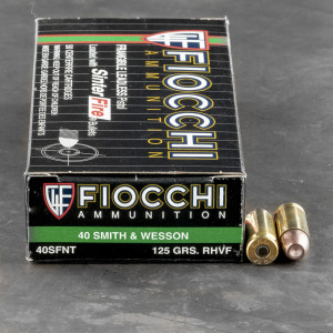 50rds - 40 S&W Fiocchi 125gr. Sinterfire Leadless Frangible Ammo