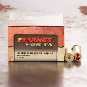 20rds - 44 Mag Barnes 225gr. XPB Hollow Point Ammo