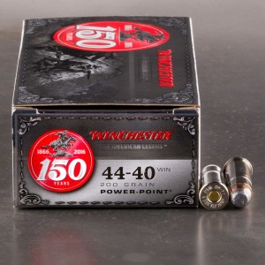 50rds – 44-40 Winchester 150th Anniversary Commemorative 200gr. PP Ammo