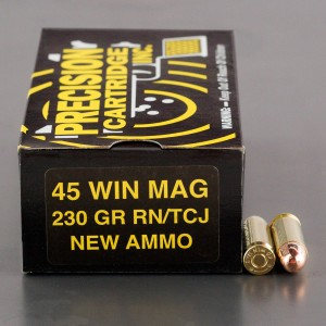 50rds - 45 Win Mag Precision Cartridges Inc. 230gr. TMJ Ammo