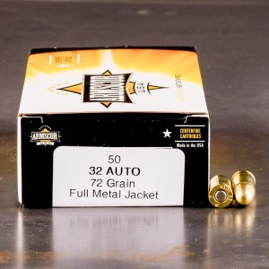32 ACP - 72 Grain FMJ - Armscor - 1000 Rounds