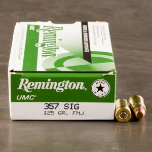 50rds - 357 Sig Remington UMC 125gr. FMJ Ammo