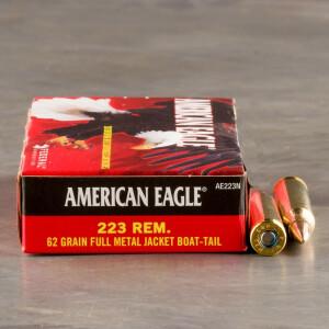 500rds – 223 Federal American Eagle 62gr. FMJ-BT Ammo