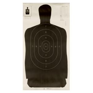 100 - Champion B27 Law Enforcement Black Silhouette Paper Targets