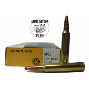 20rds - 300 Win Mag S&B 180gr Soft Point Ammo