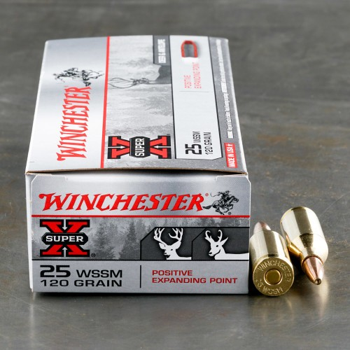 25 Wssm Positive Expanding Point Ammo For Sale By Winchester 20 Rounds